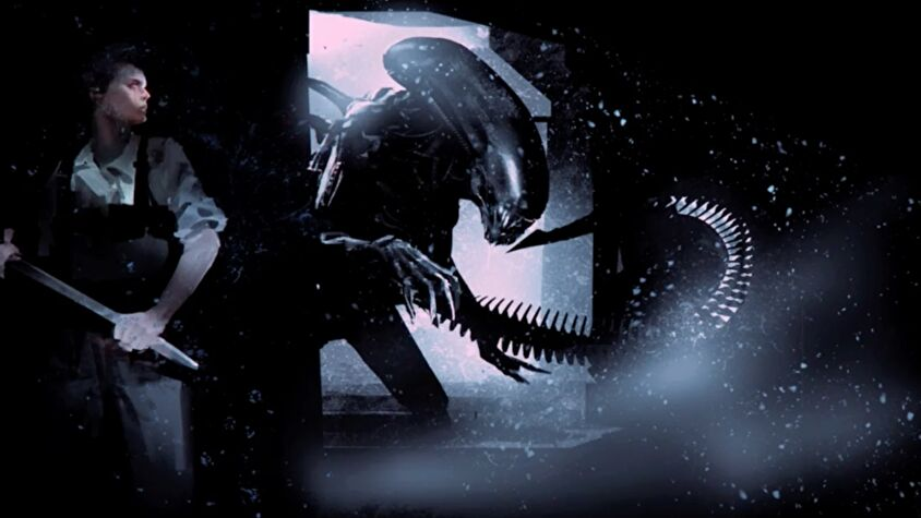 Alien tabletop RPG official concept art with Xenomorph