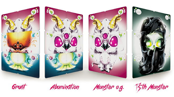 13 Monsters board game cards