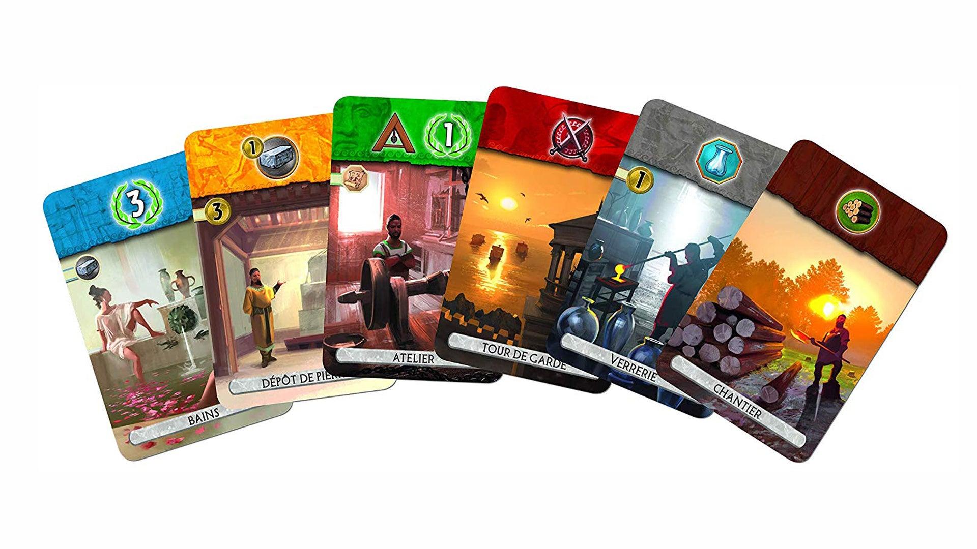 7 Wonders Duel board game cards