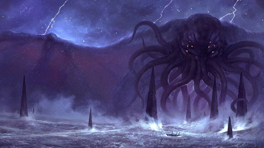 Call of Cthulhu, a horror tabletop RPG that draws from the Lovecraftian mythos.