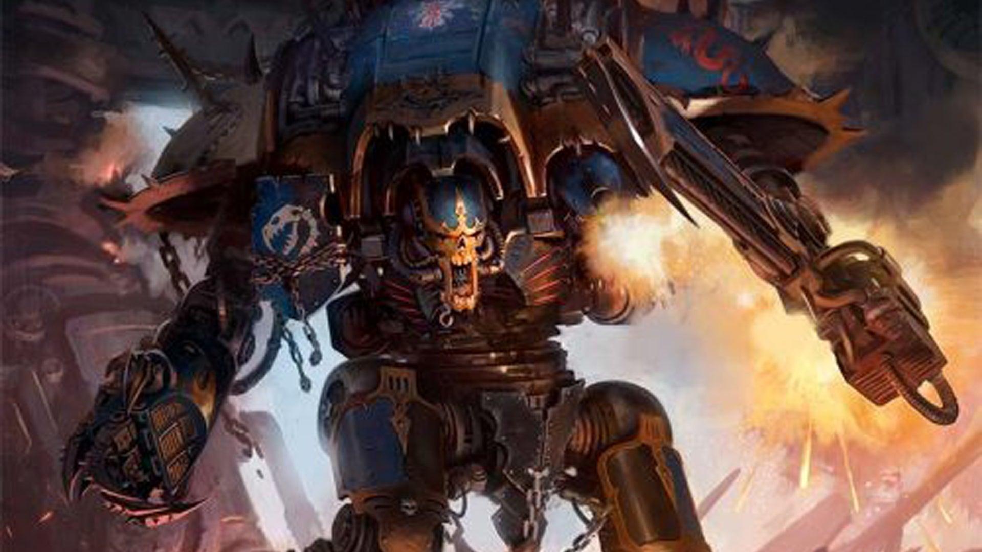 Chaos Knight Codex cover art Warhammer 40K miniatures game