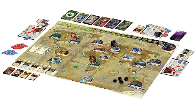 Eldritch Horror board game layout