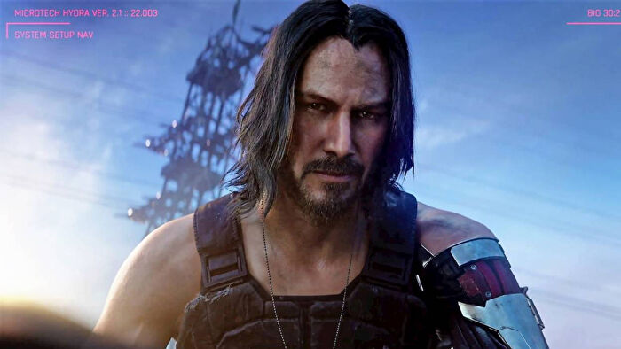 Johnny Silverhand, as depicted in the upcoming Cyberpunk 2077 video game.