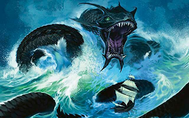 MAgic: The Gathering blue deck serpent