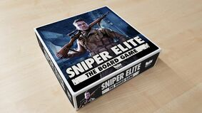 Sniper Elite the Board Game official box art from publisher Rebellion.