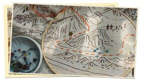Image for Sew a map to a distant friend in keepsake storytelling game A Mending