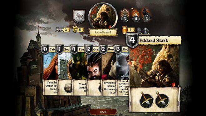A Game of Thrones: The Board Game - Digital Edition screenshot cards