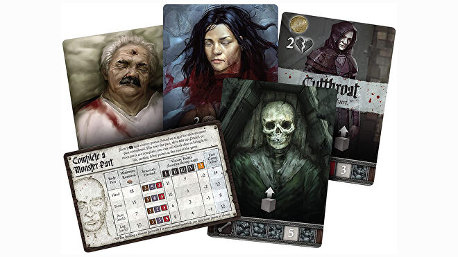 Abomination: Heir of Frankenstein board game cards