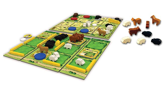 Agricola: All Creatures Big and Small board game layout