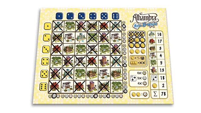 Alhambra: Roll & Write board game layout