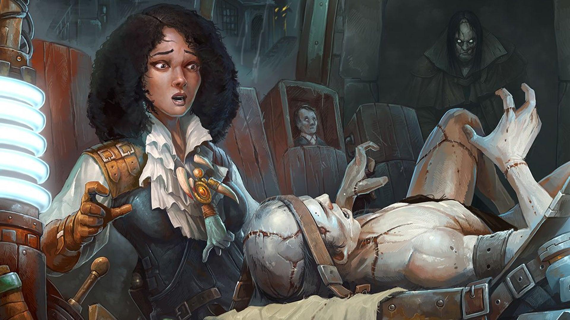 Abomination: Heir of Frankenstein board game artwork
