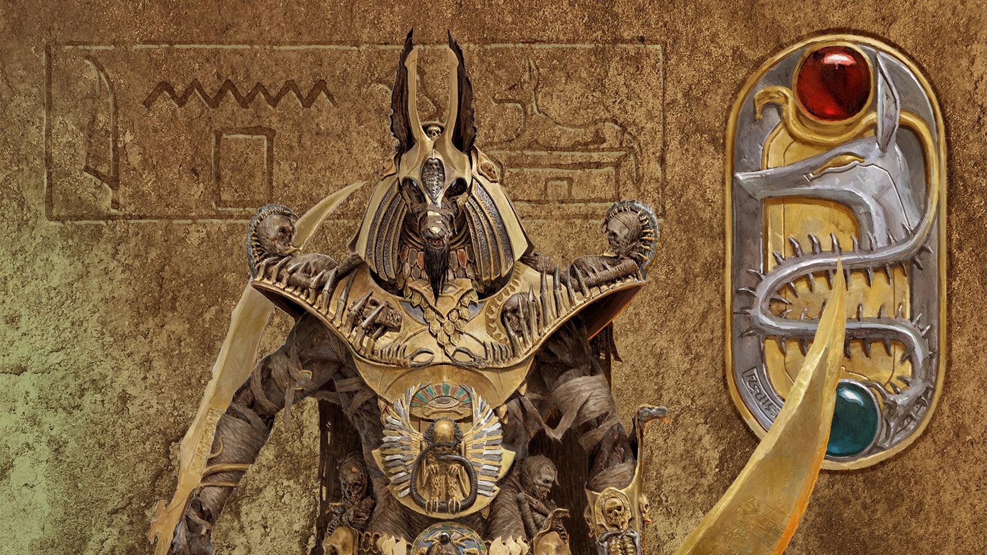 Anubis art Ankh: Gods of Egypt board game