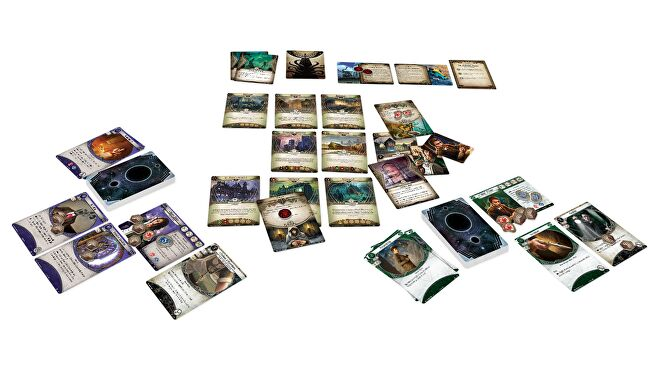 Arkham Horror: The Card Game horror board game gameplay layout