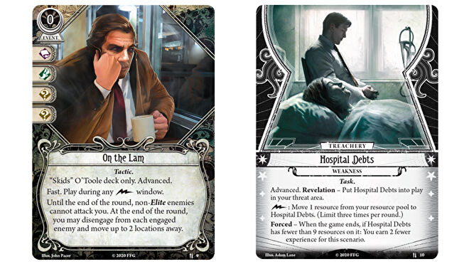Arkham Horror The Card Game Skids O Toole parallel investigator cards