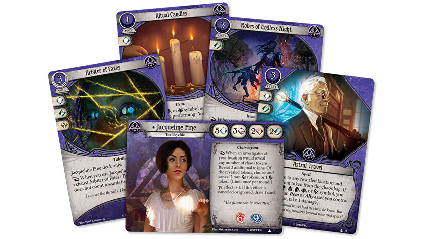 Arkham Horror: The Card Game Jacqueline Fine card fan