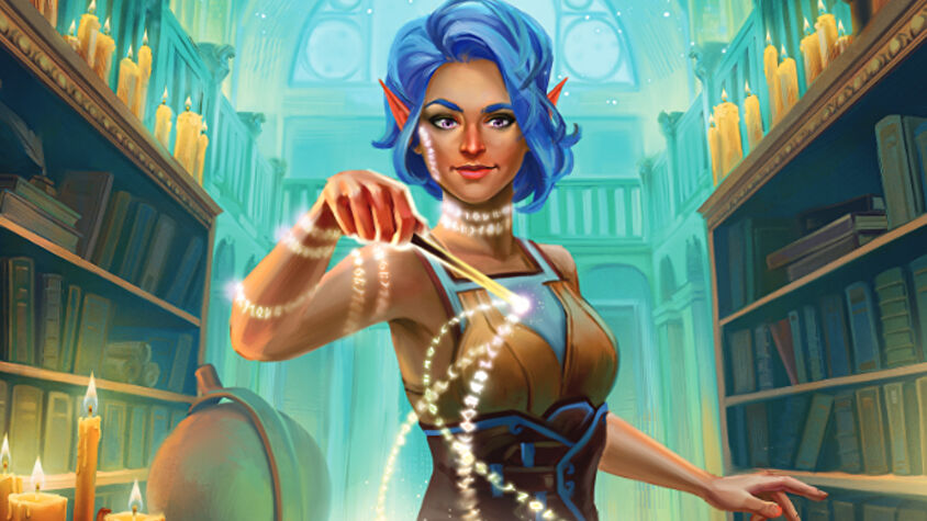 Atheneum: Mystic Library board game artwork