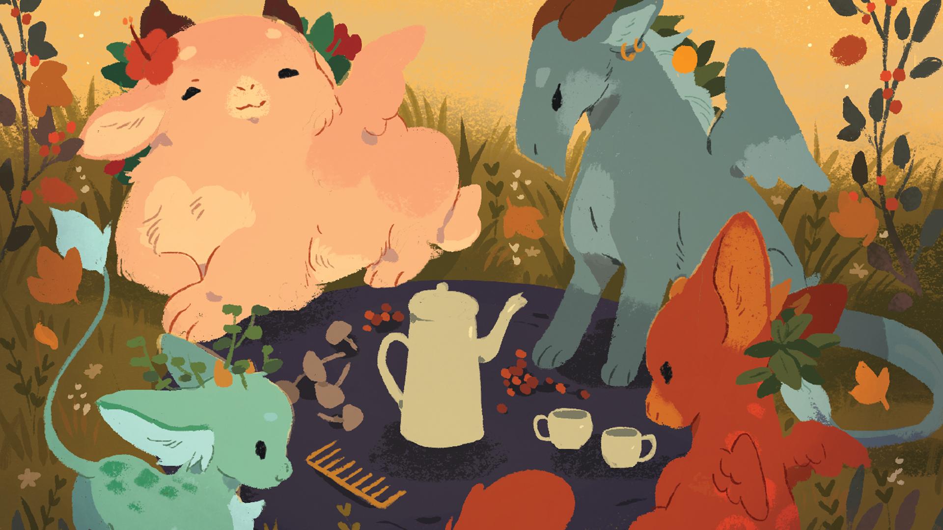 Autumn Harvest: A Tea Dragon Card Game artwork