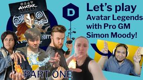 The thumbnail for the Dicebreaker Youtube Channel's Avatar Legends actual play part one