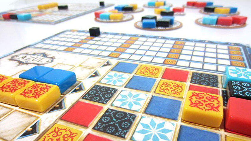 Azul beginner board game gameplay layout