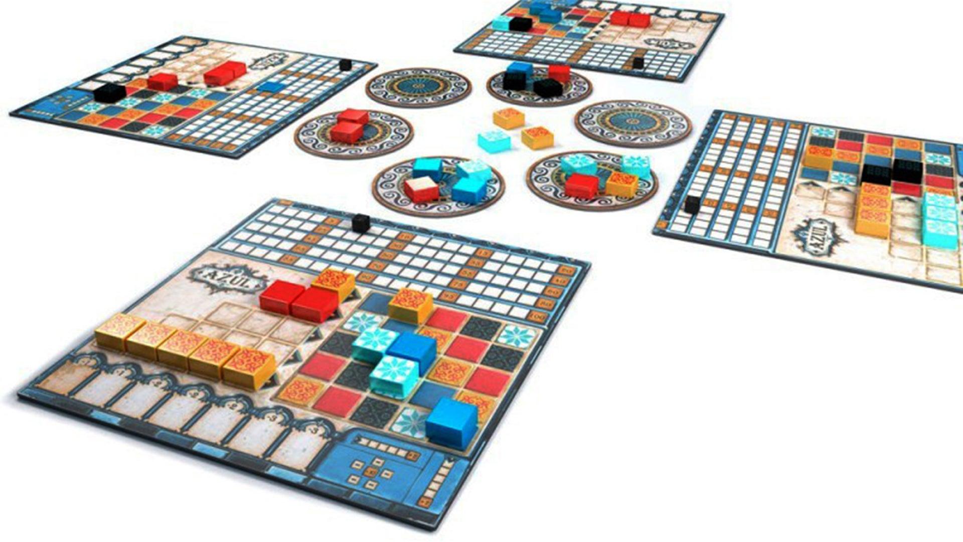 Azul beginner board game gameplay layout