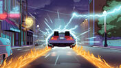 Back to the Future: Back in Time board game artwork