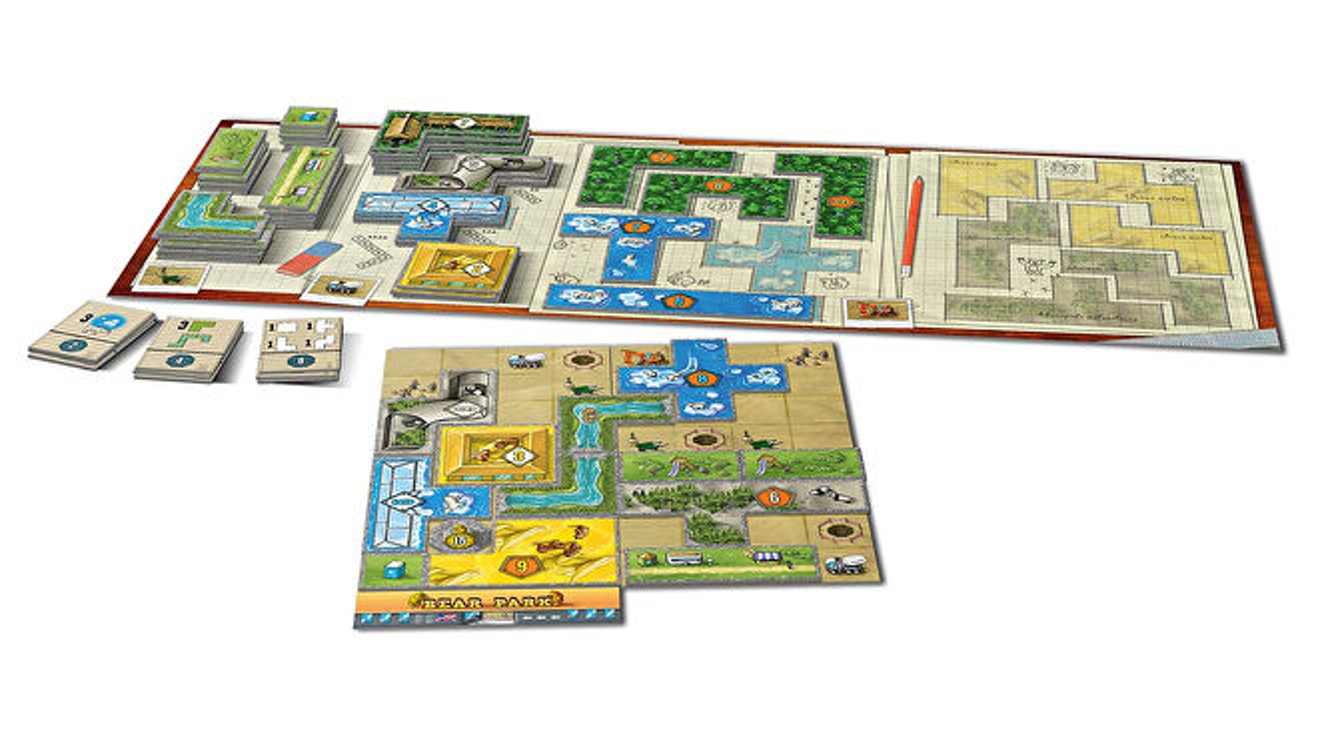Barenpark beginner board game gameplay layout