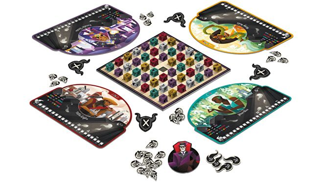 Baron Voodoo board game layout