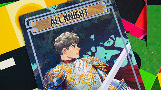 Sparkle Kitty Nights party board game card All Knight