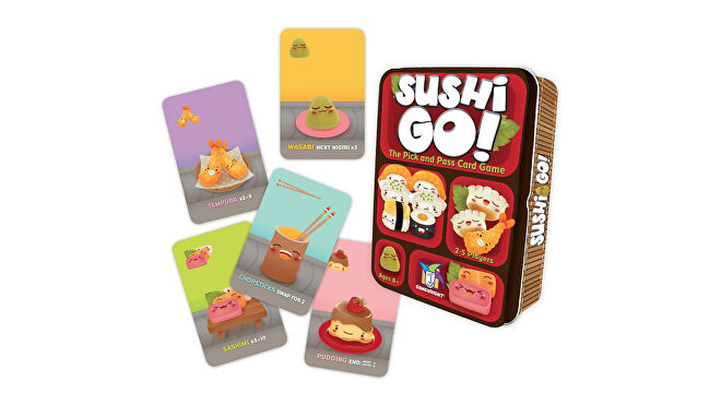 Sushi Go! quick board game box and components