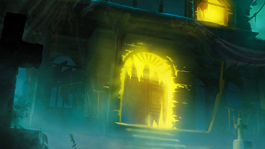 Betrayal at House on the Hill board game artwork