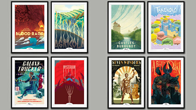 BoardGameGeek Art Prints Series 1 and 2