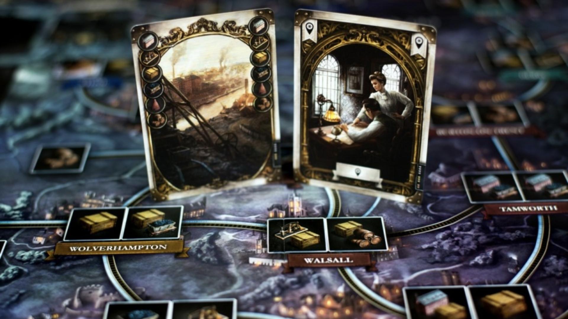 Brass: Birmingham board game layout 2