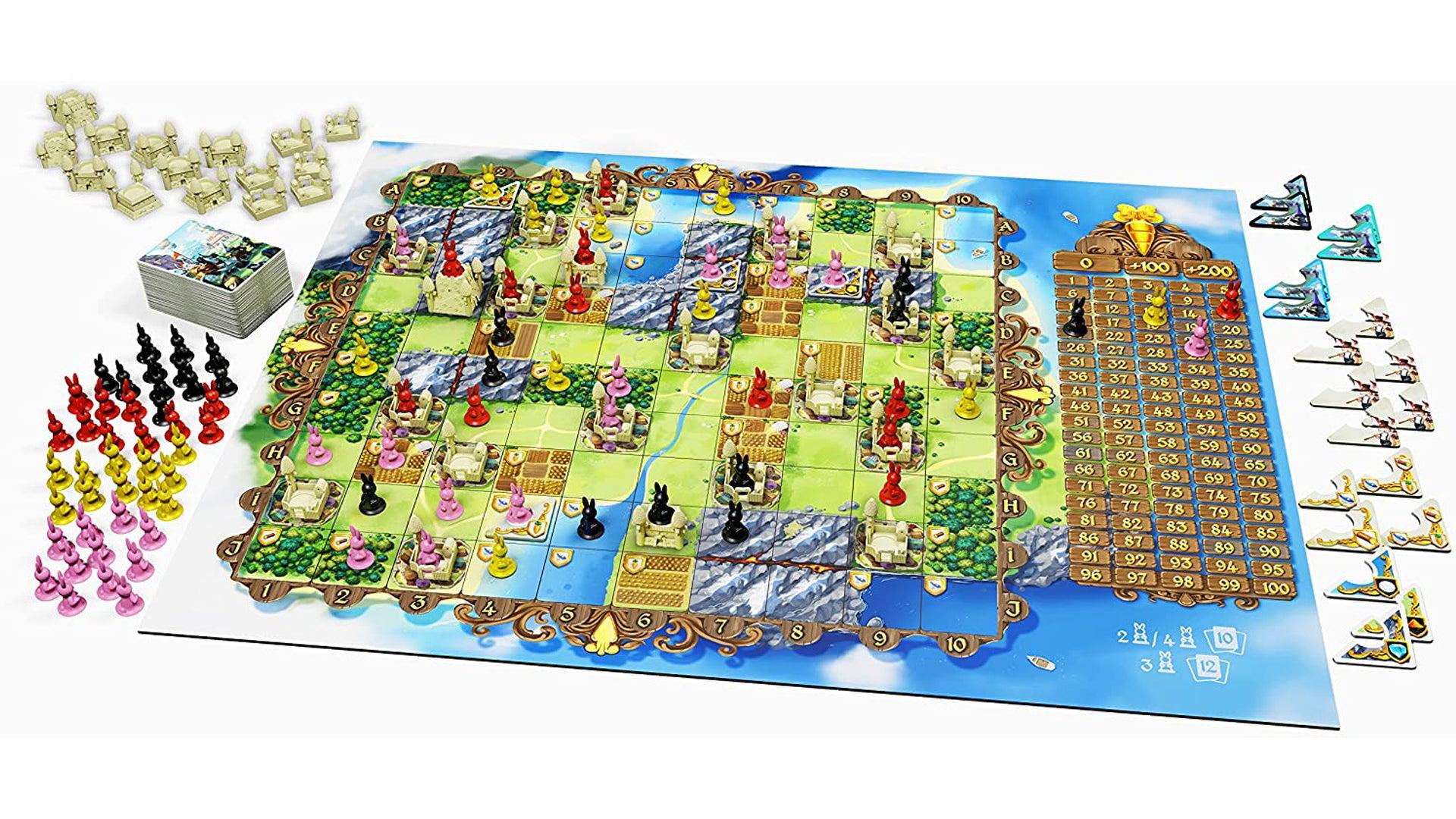 Bunny Kingdom board game layout