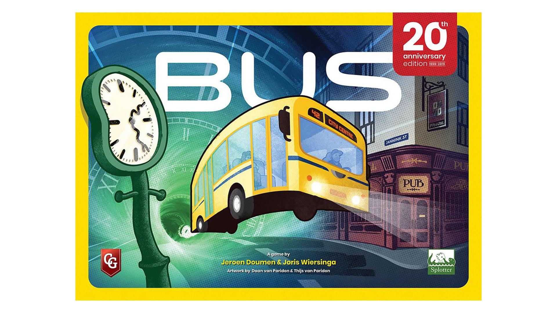 Bus: 20th Anniversary Edition board game box