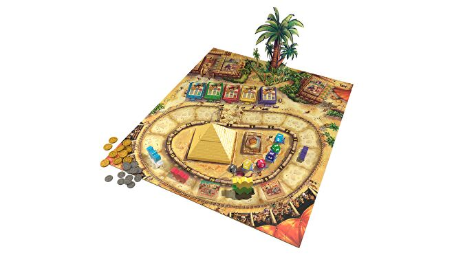 Camel Up: Second Edition beginner board game gameplay layout