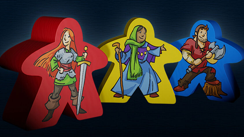 Carcassonne: 20th Anniversary meeples