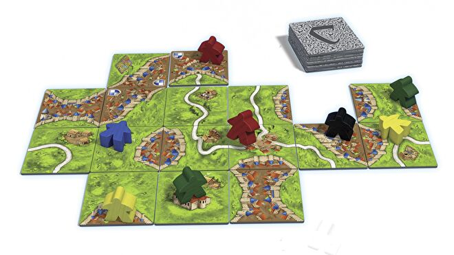 Carcassonne beginner board game gameplay layout