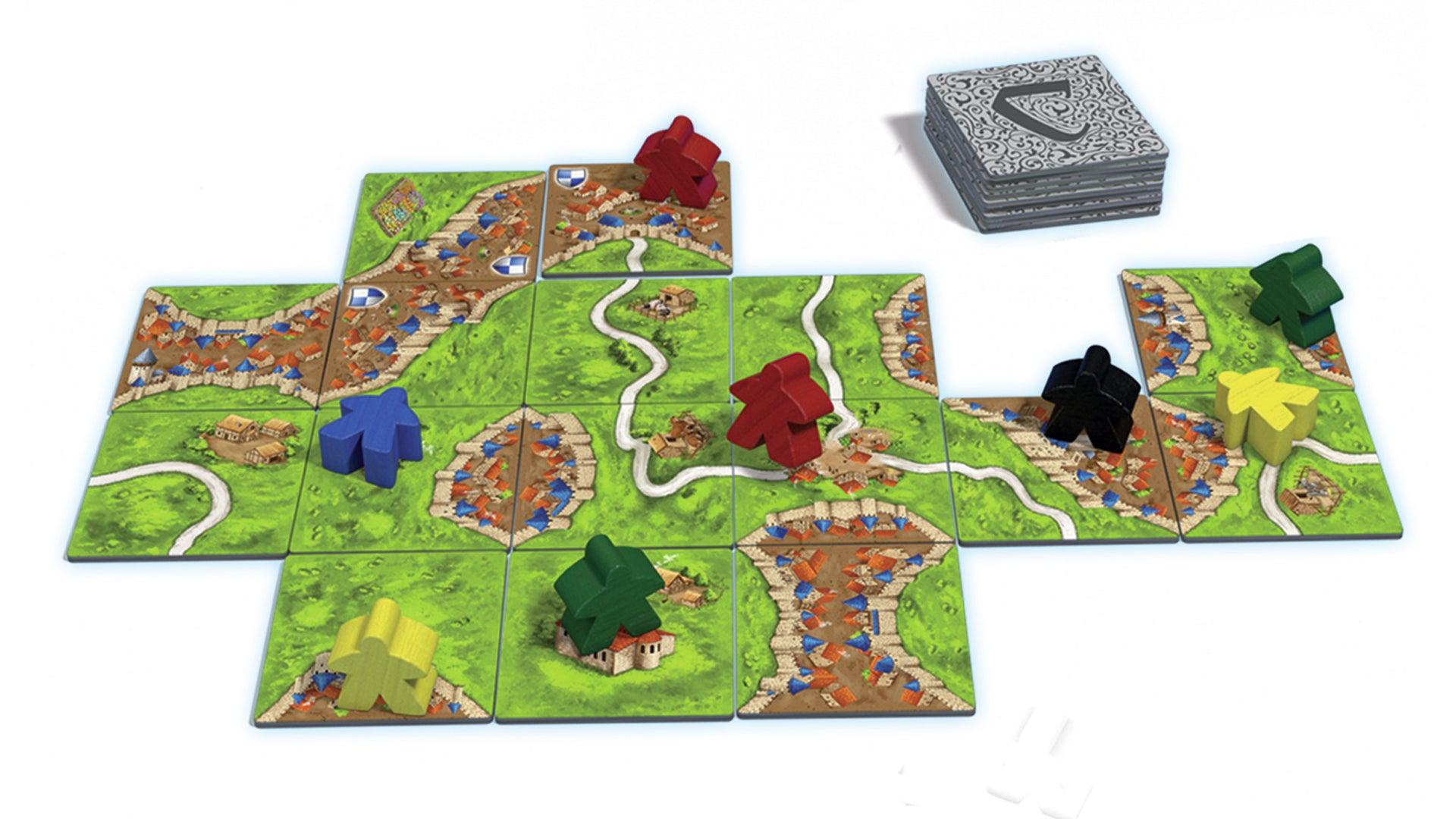 Carcassonne beginner board game gameplay layout