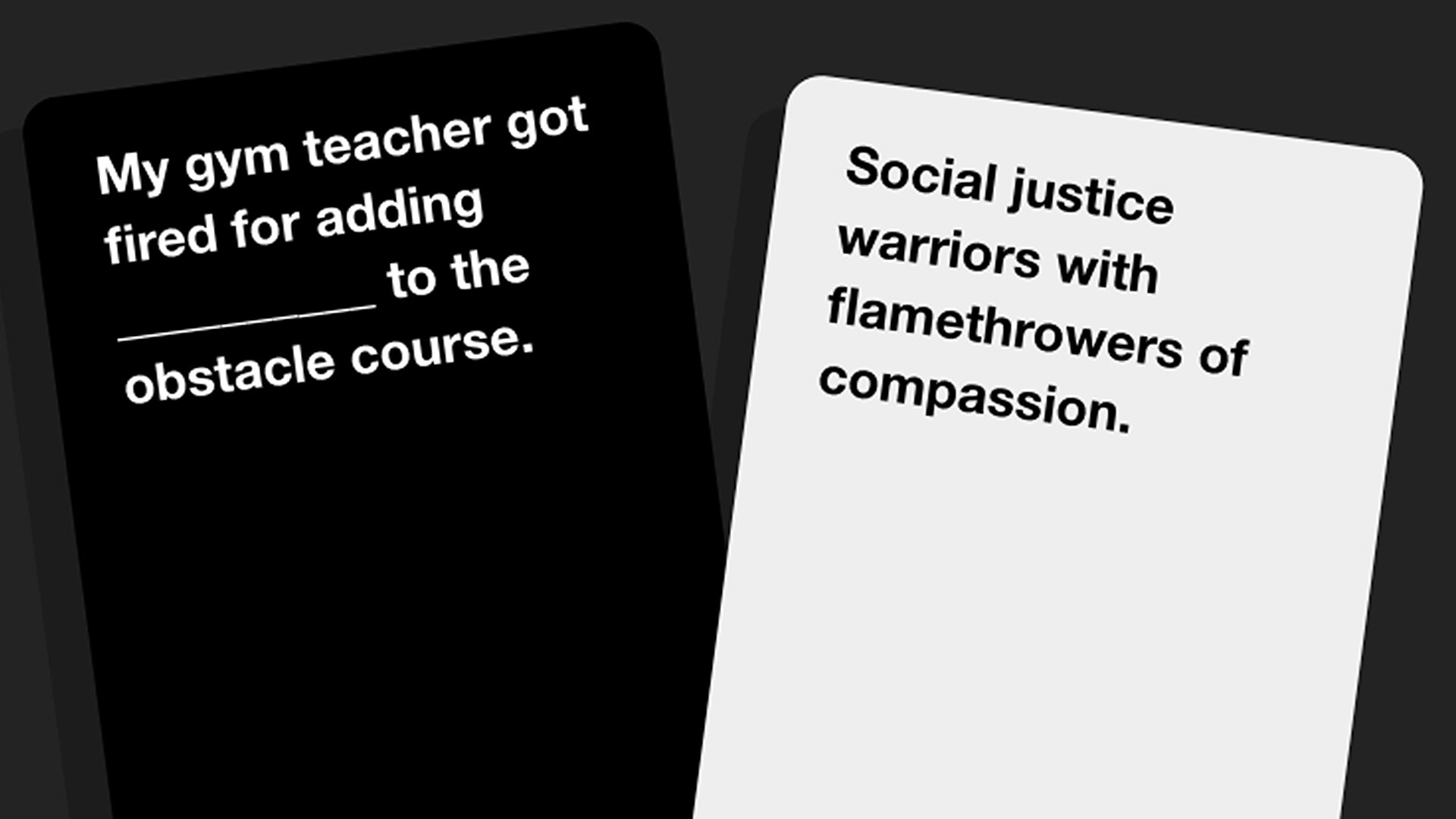 Cards against humanity online game version