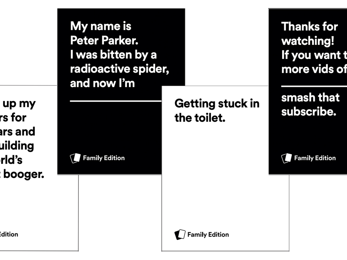 Cards Against Humanity Has A New Family Friendly Edition You Can Download For Free Dicebreaker
