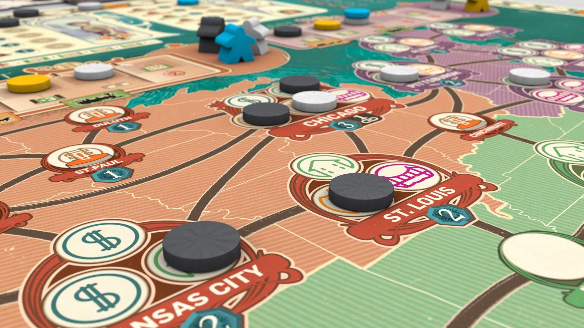 Carnegie board game layout