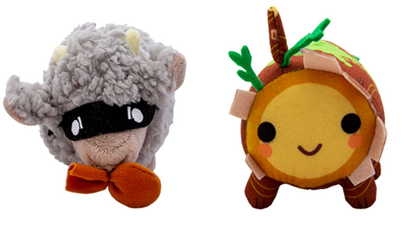 Catan Plushie Collection log and robber