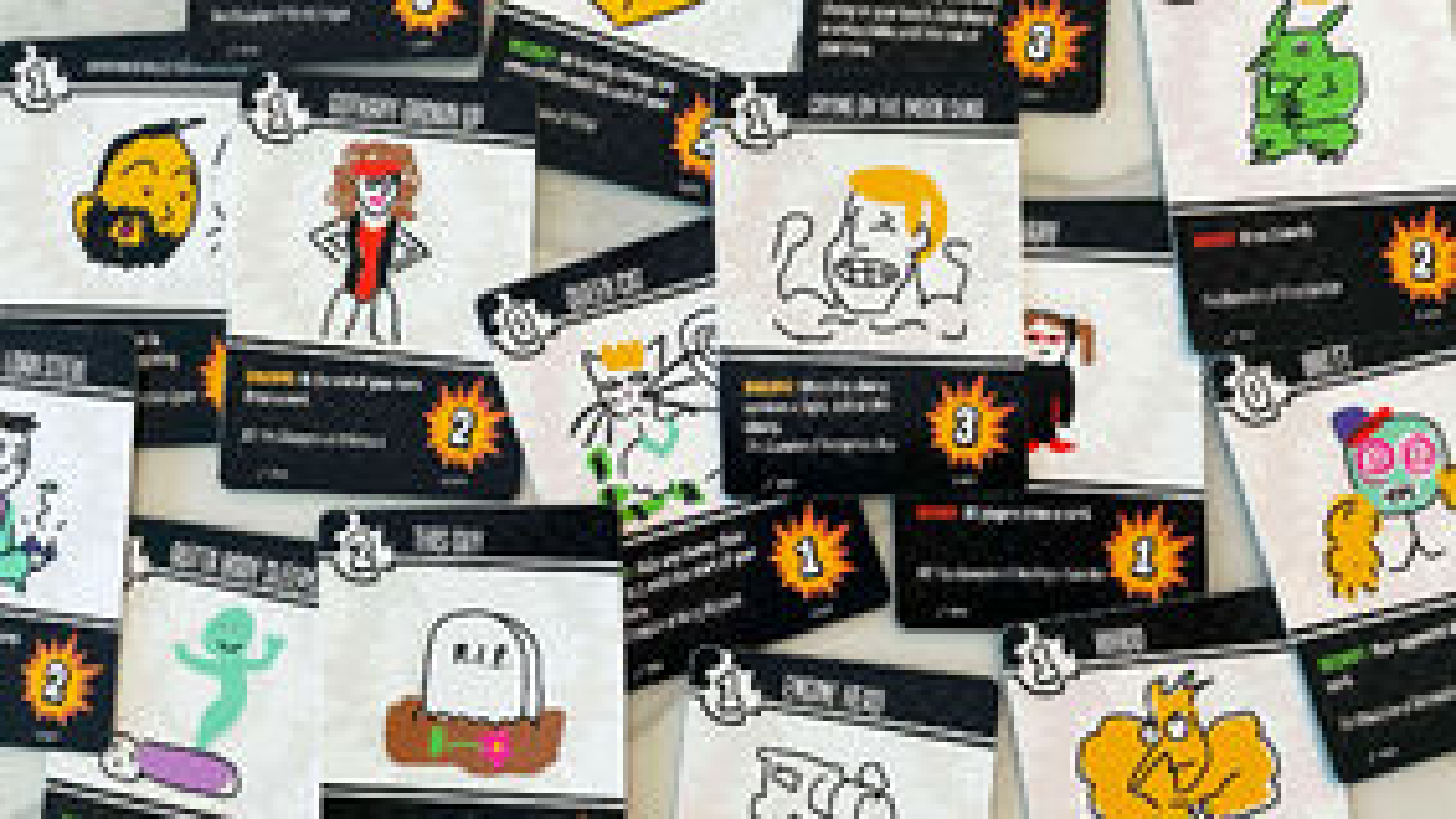 An assortment of Champ'd Up: Slam Down cards