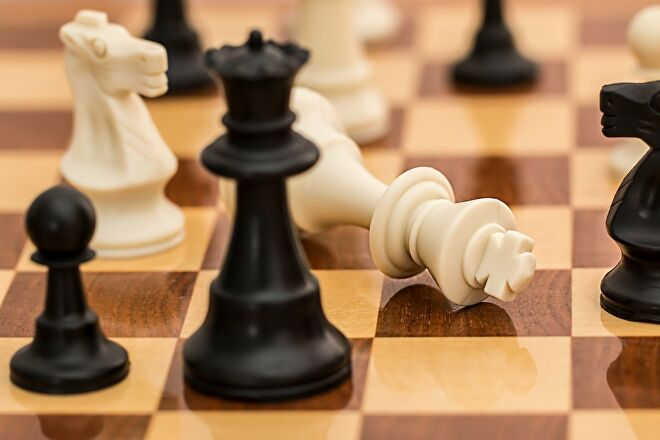 A checkmate in chess