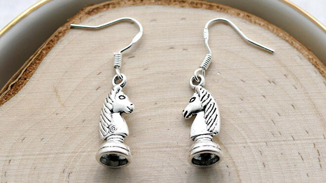 Chess Piece Earrings image