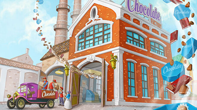 Chocolate Factory board game artwork