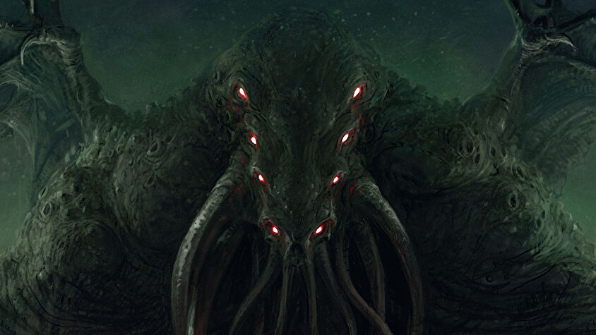 Cthulhu: Death May Die horror board game box artwork