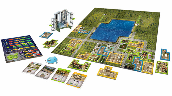 Cities: Skylines - The Board Game gameplay layout