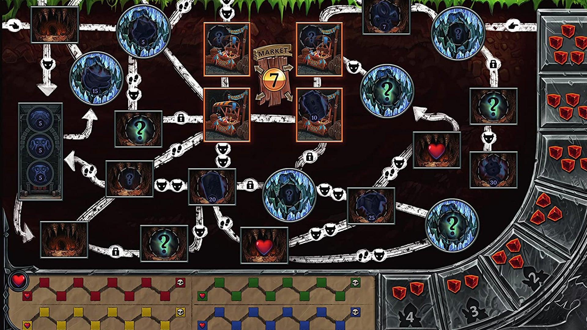 Clank: A Deck Building Adventure board game board