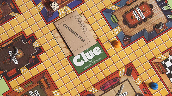Clue board game layout